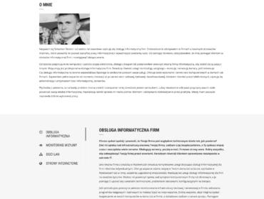 Teksty reklamowe o uslugach informatycznych dla firmy Pana Sebastiana Stolorza