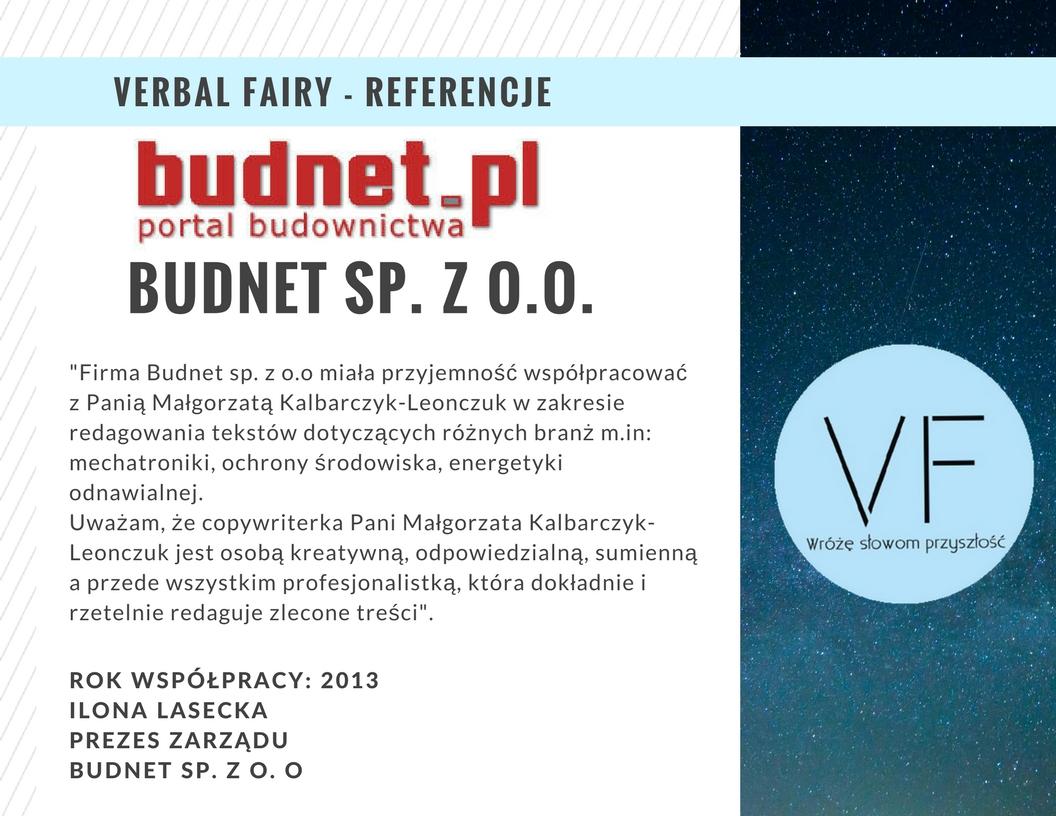Referencje firmy Verbal Fairy odBudnet.pl