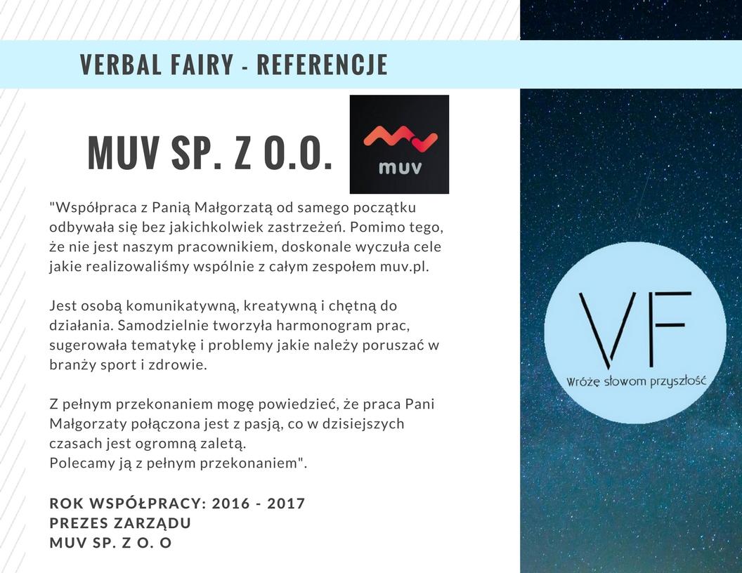 Referencje firmy Verbal Fairy odMuv.pl