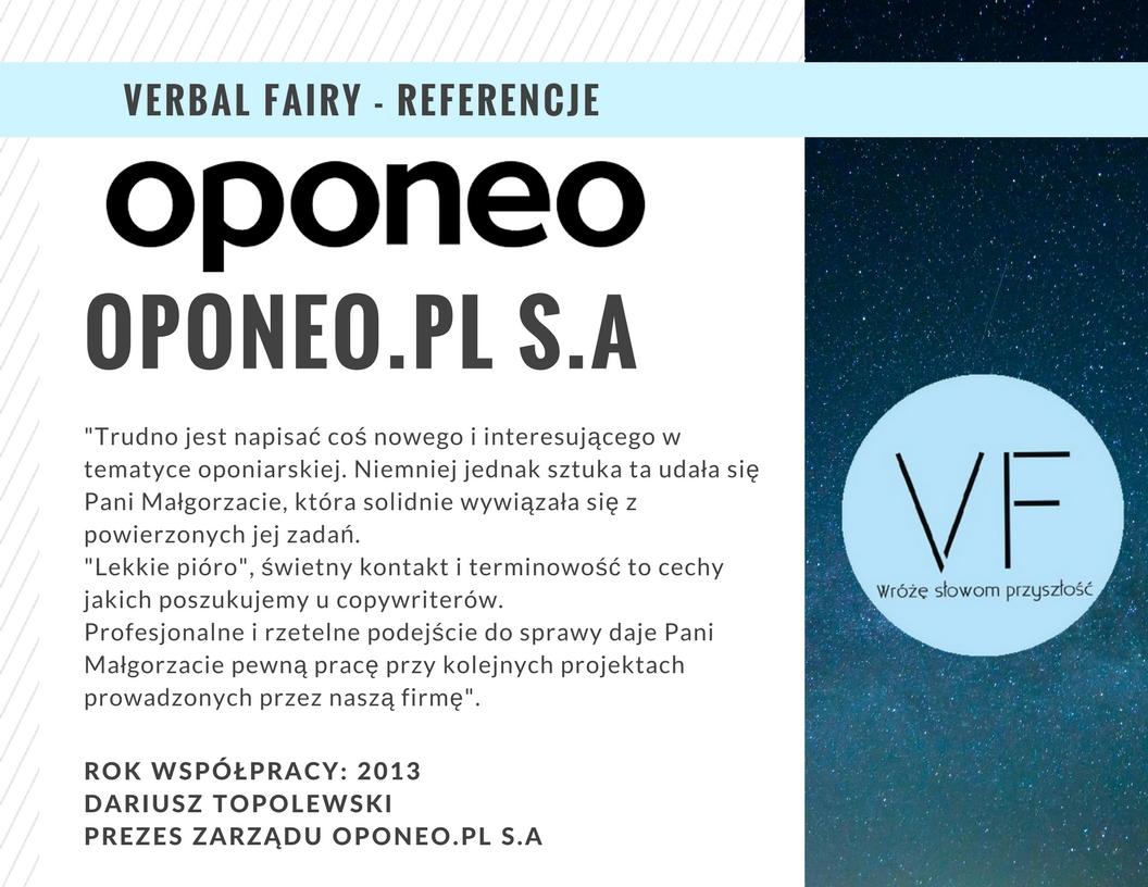 Referencje firmy Verbal Fairy odOponeo
