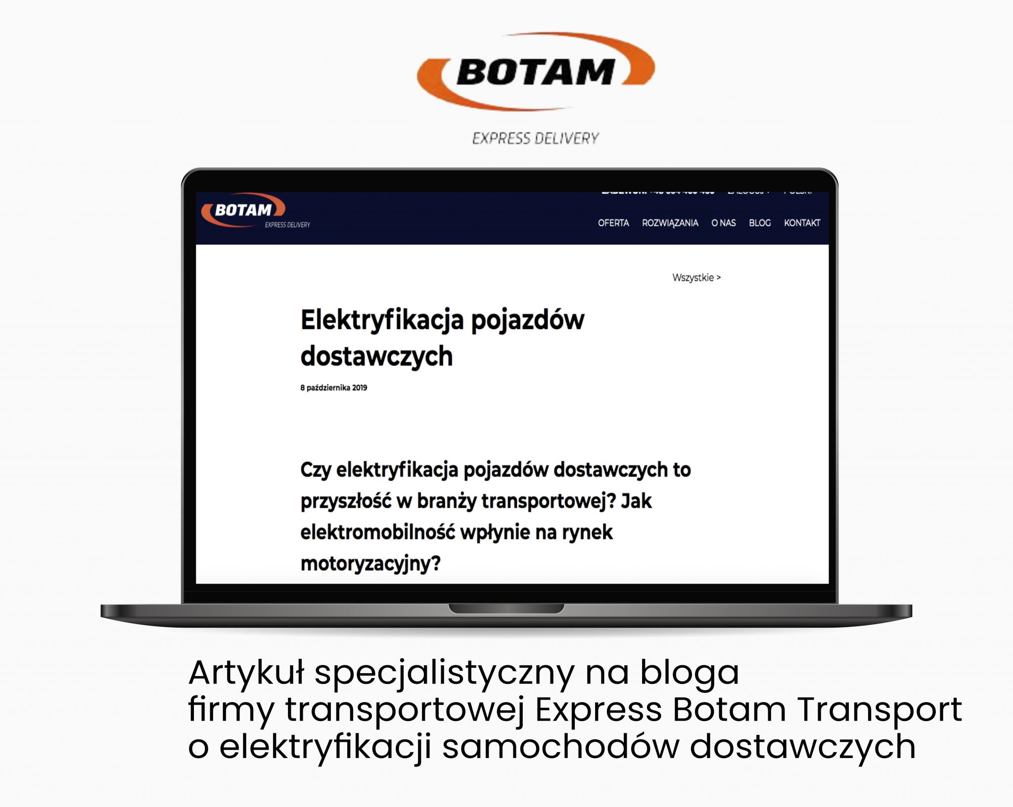 Express Botam Transport – Verbal Fairy  - Portfolio copywriterskie Verbal Fairy