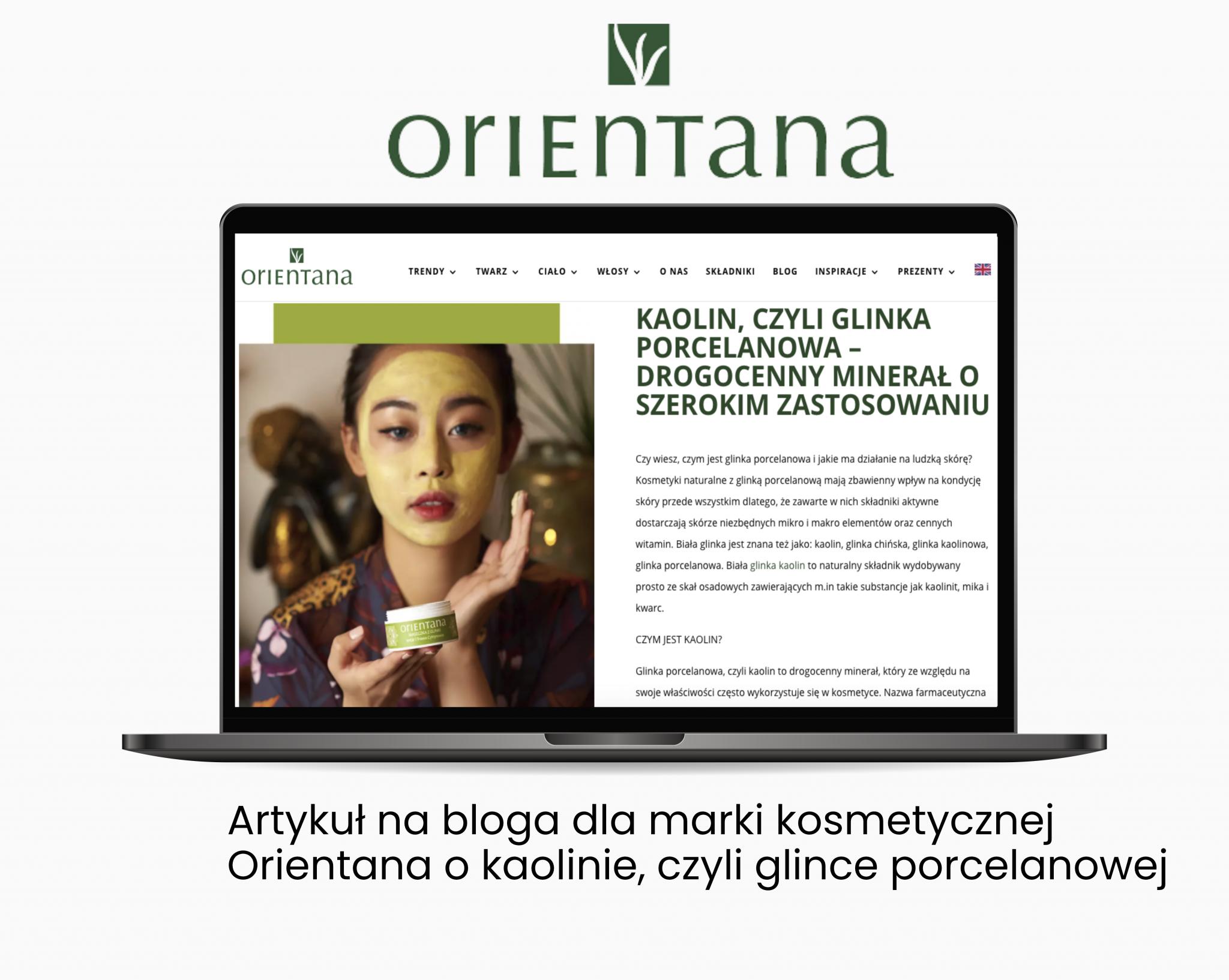 Orientana – artykul nabloga dla marki kosmetycznej - Portfolio copywriterskie Verbal Fairy